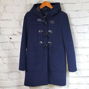 Forever 21 Hooded Toggle & Zip Wool Coat **READ**